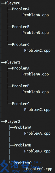 选手代码存放示例